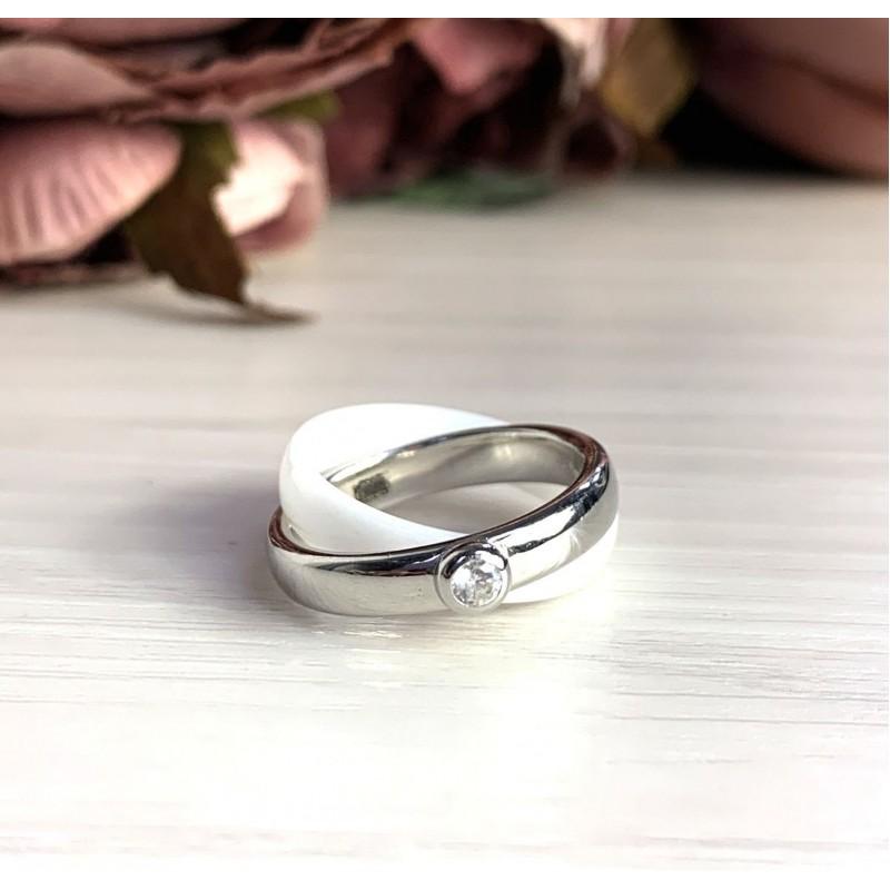 Серебряное кольцо SilverBreeze с керамикой (1765043) 16 размер