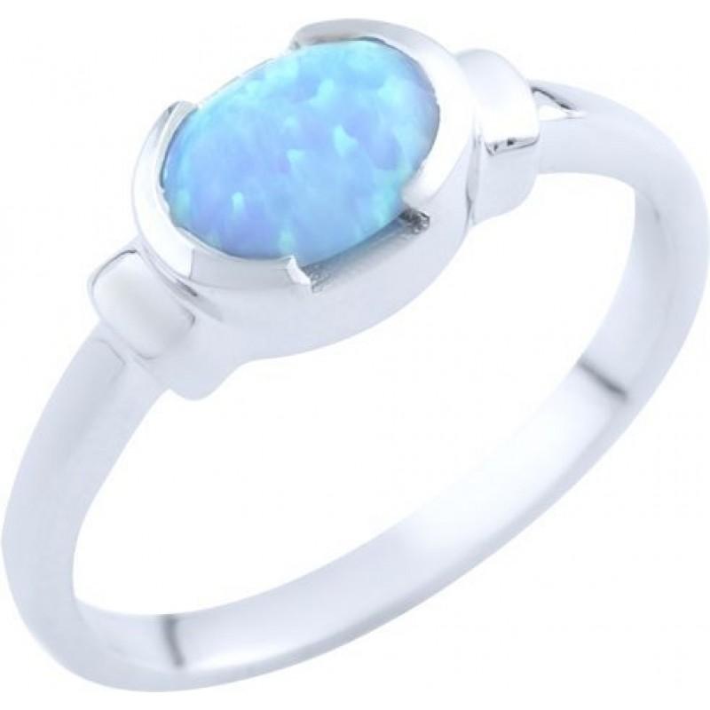 Серебряное кольцо SilverBreeze с опалом (1765623) 17 размер
