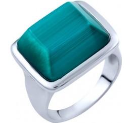 Серебряное кольцо SilverBreeze с кошачим глазом (1803042) 17 размер
