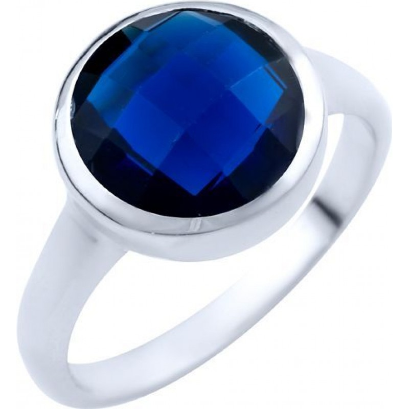 Серебряное кольцо SilverBreeze с сапфиром nano (1825358) 17 размер