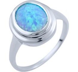 Серебряное кольцо SilverBreeze с опалом (1838334) 17 размер