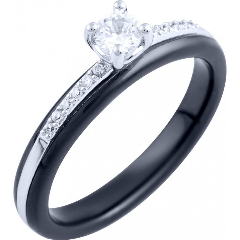 Серебряное кольцо SilverBreeze с керамикой (1885895) 18.5 размер