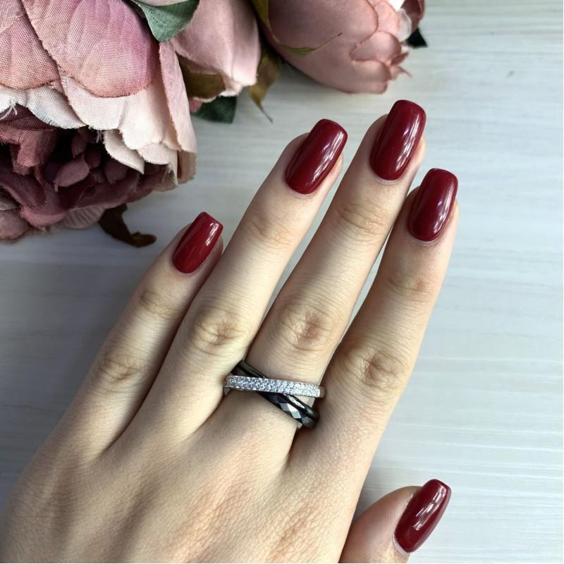 Серебряное кольцо SilverBreeze с керамикой (1903988) 18.5 размер