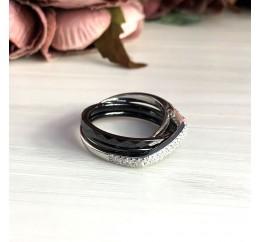 Серебряное кольцо SilverBreeze с керамикой (1903988) 17.5 размер