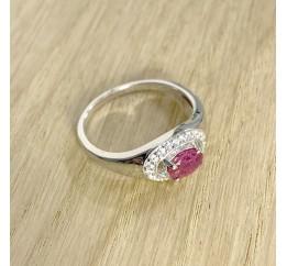 Серебряное кольцо SilverBreeze с натуральным рубином (1911723) 17.5 размер