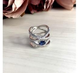 Серебряное кольцо SilverBreeze с натуральным сапфиром (1912805) 18 размер