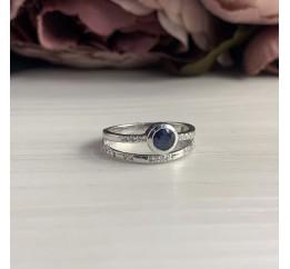 Серебряное кольцо SilverBreeze с натуральным сапфиром (1914762) 17 размер
