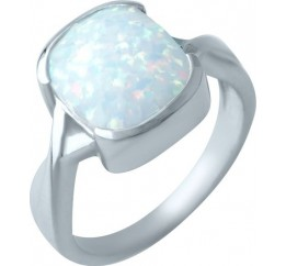 Серебряное кольцо SilverBreeze с опалом (1919804) 17 размер