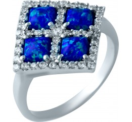 Серебряное кольцо SilverBreeze с опалом (1919842) 17 размер