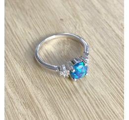 Серебряное кольцо SilverBreeze с опалом (1920244) 17 размер