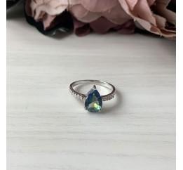 Серебряное кольцо SilverBreeze с натуральным мистик топазом (1921395) 17 размер