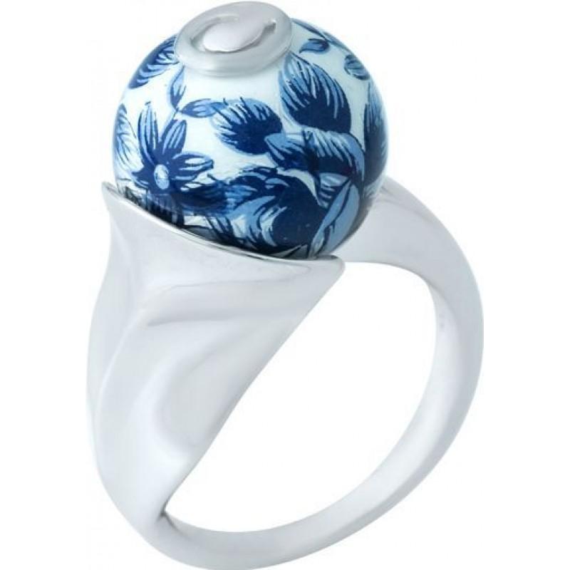 Серебряное кольцо SilverBreeze с емаллю (1928455) 17.5 размер