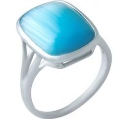 Серебряное кольцо SilverBreeze с кошачим глазом (1928776) 16.5 размер