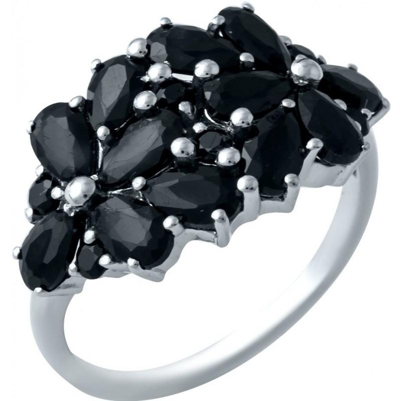 Серебряное кольцо SilverBreeze с натуральным сапфиром (1933114) 17.5 размер