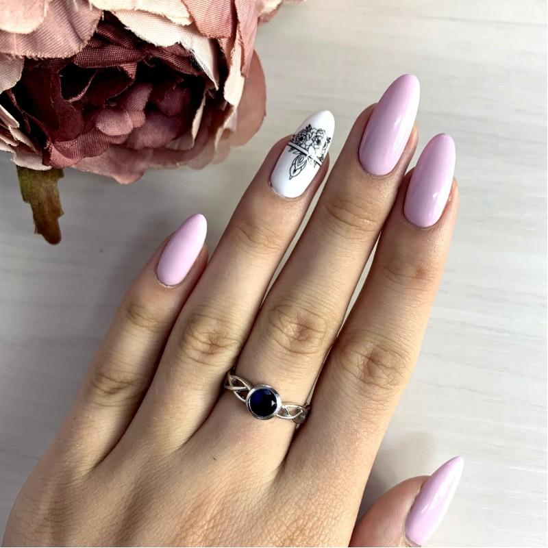 Серебряное кольцо SilverBreeze с сапфиром nano (1934333) 17 размер