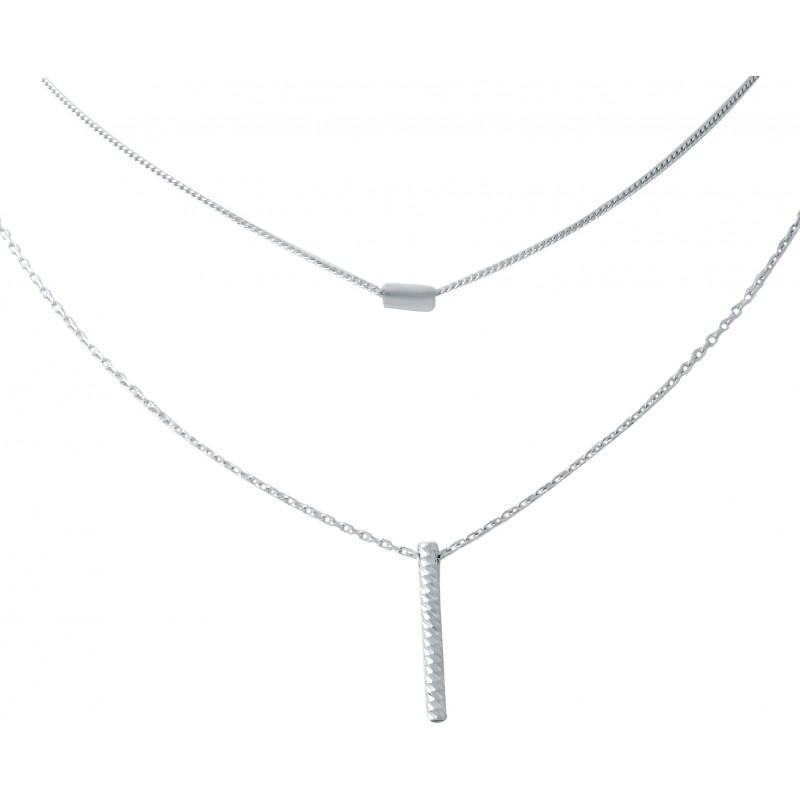 Серебряное колье SilverBreeze без камней (1935996) 420 размер