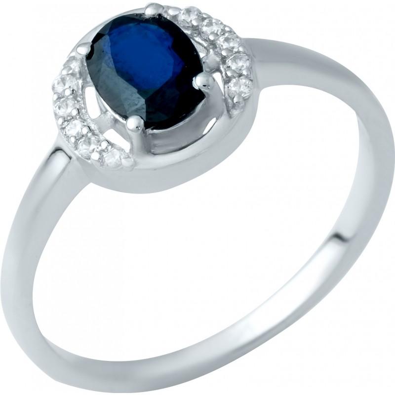 Серебряное кольцо SilverBreeze с натуральным сапфиром (1938232) 18 размер