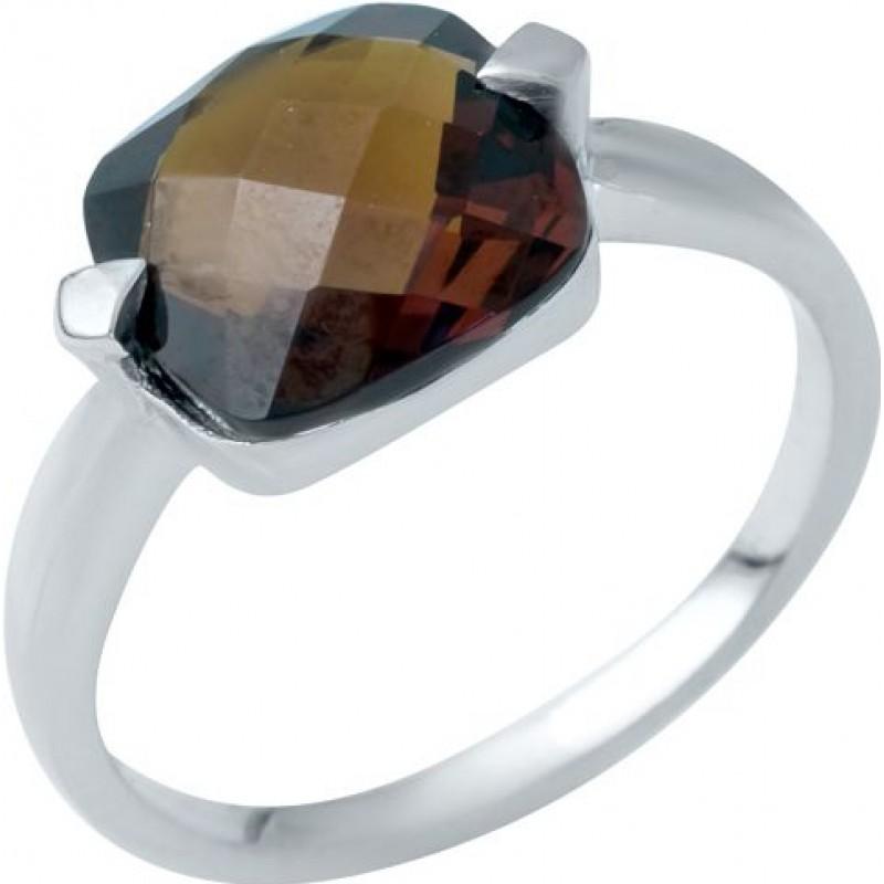 Серебряное кольцо SilverBreeze с натуральным гранатом (1945759) 17 размер