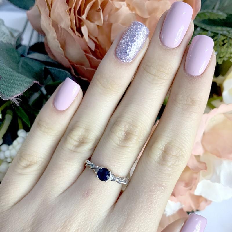 Серебряное кольцо SilverBreeze с натуральным сапфиром (1946893) 16.5 размер