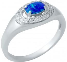 Серебряное кольцо SilverBreeze с опалом (1948279) 17.5 размер