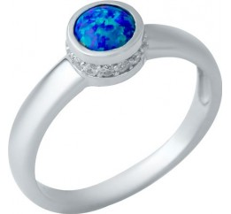 Серебряное кольцо SilverBreeze с опалом (1948361) 18.5 размер