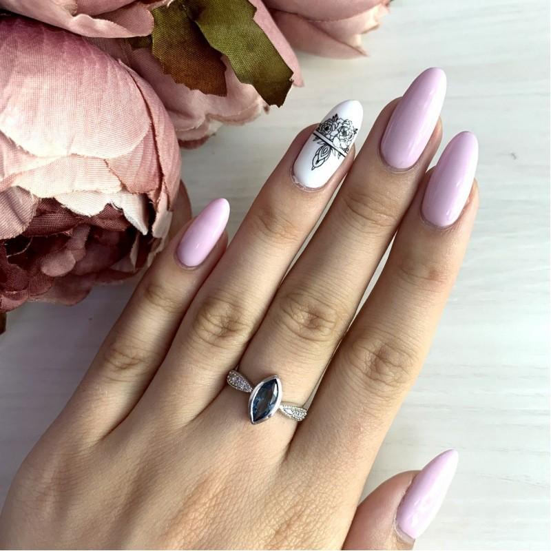 Серебряное кольцо SilverBreeze с натуральным топазом Лондон Блю (1949276) 17 размер