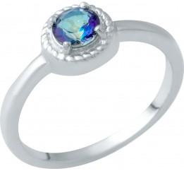 Серебряное кольцо SilverBreeze с натуральным мистик топазом (1949450) 18 размер
