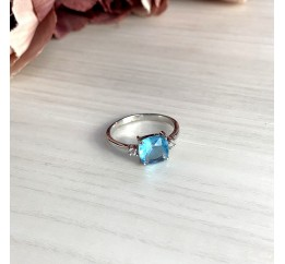Серебряное кольцо SilverBreeze с аквамарином nano (1950166) 17 размер