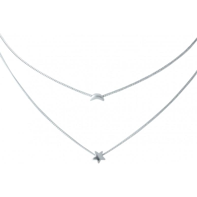 Серебряное колье SilverBreeze без камней (1952849) 450 размер