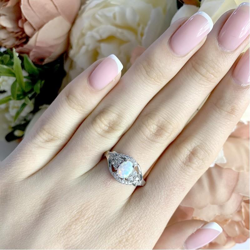Серебряное кольцо SilverBreeze с опалом (1958780) 18 размер
