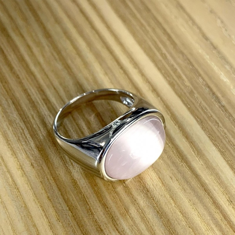 Серебряное кольцо SilverBreeze с кошачим глазом (1985014) 18 размер