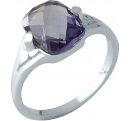 Серебряное кольцо SilverBreeze с олександритом (1961988) 17 размер