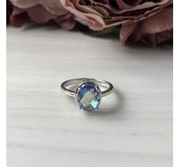 Серебряное кольцо SilverBreeze с натуральным мистик топазом (1965870) 17.5 размер