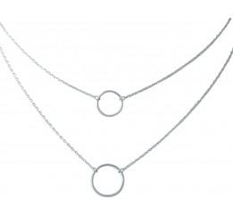 Серебряное колье SilverBreeze без камней (1967010) 450 размер