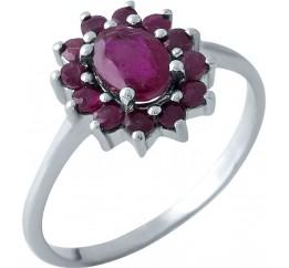 Серебряное кольцо SilverBreeze с натуральным рубином (1968109) 18 размер