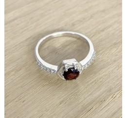 Серебряное кольцо SilverBreeze с натуральным гранатом (1971185) 17 размер