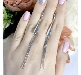 Серебряные серьги SilverBreeze без камней (1973868)