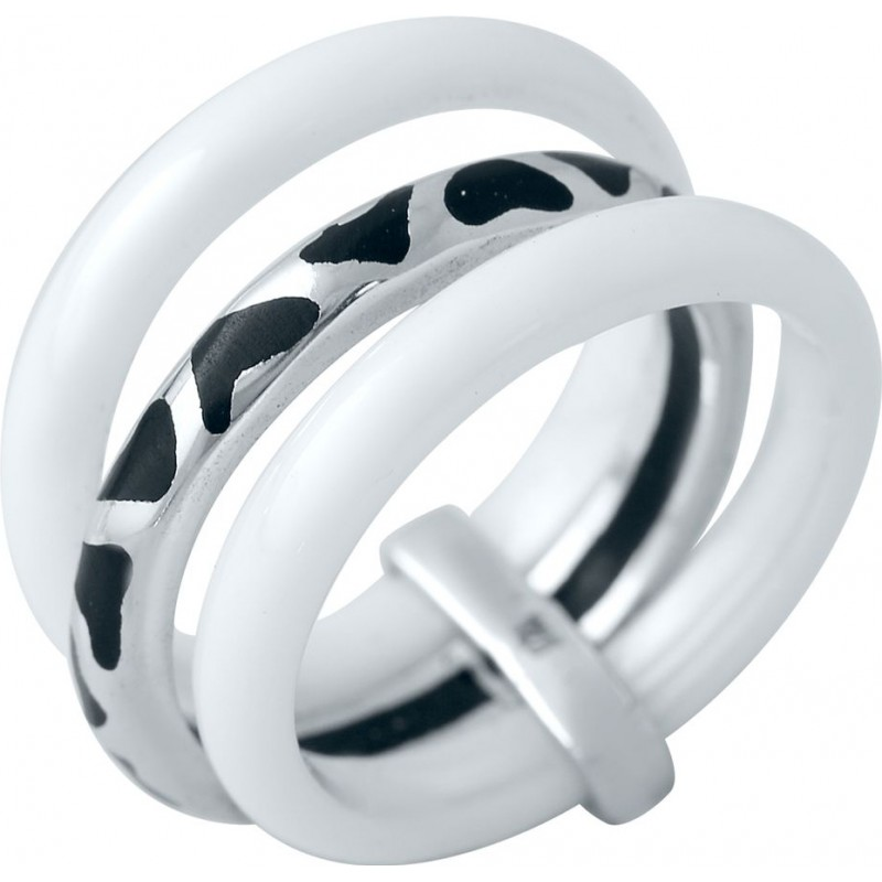 Серебряное кольцо SilverBreeze с керамикой, емаллю (1977033) 18 размер