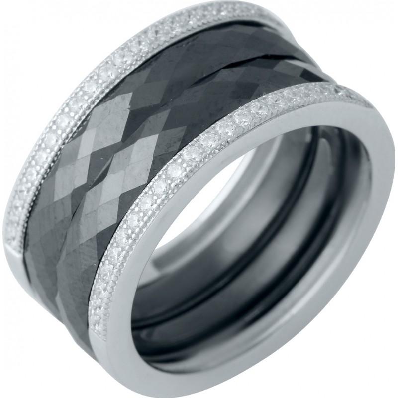 Серебряное кольцо SilverBreeze с керамикой (1978078) 17.5 размер