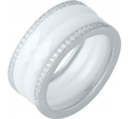Серебряное кольцо SilverBreeze с керамикой (1978115) 18 размер