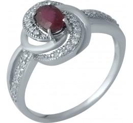 Серебряное кольцо SilverBreeze с натуральным рубином (1987483) 17 размер
