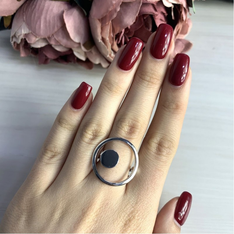 Серебряное кольцо SilverBreeze без камней (1998380) 19 размер