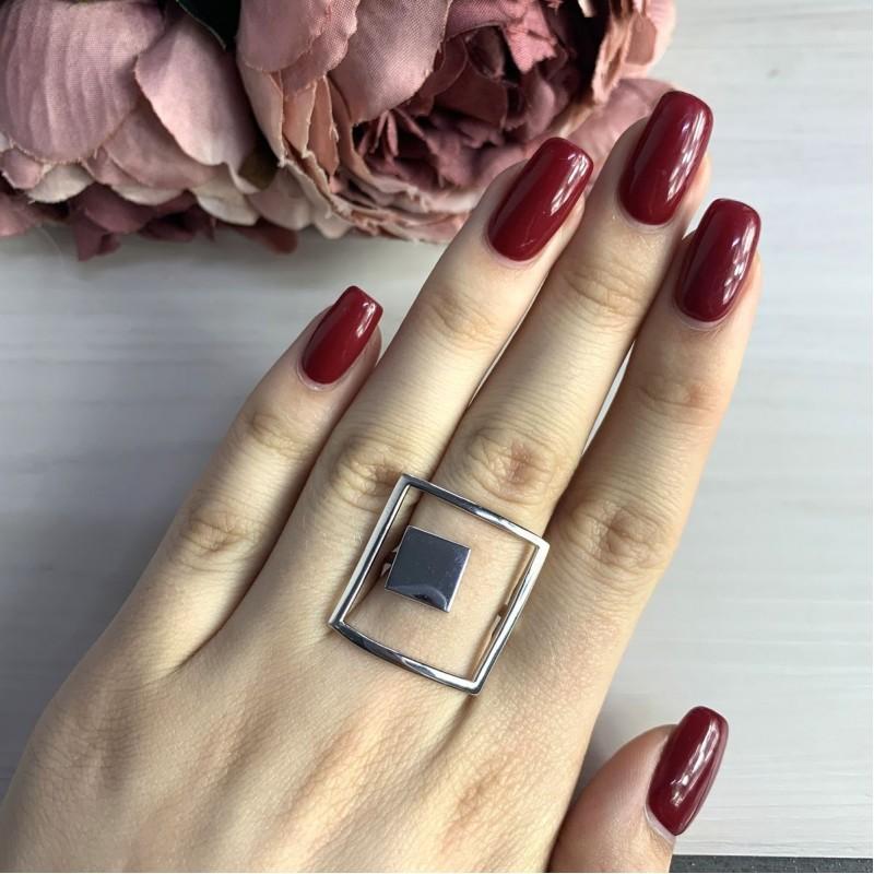 Серебряное кольцо SilverBreeze без камней (1998427) 19 размер