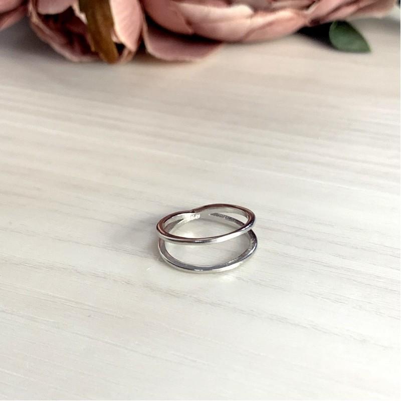Серебряное кольцо SilverBreeze без камней (1998649) 15.5 размер