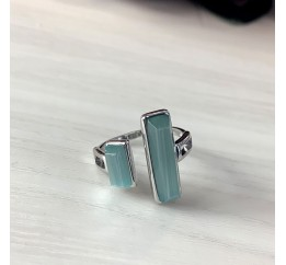 Серебряное кольцо SilverBreeze с кошачим глазом (2003182) 17 размер