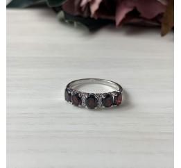 Серебряное кольцо SilverBreeze с натуральным гранатом (2005872) 17.5 размер