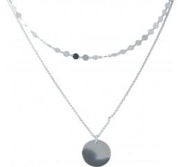 Серебряное колье SilverBreeze без камней (2006077) 450 размер