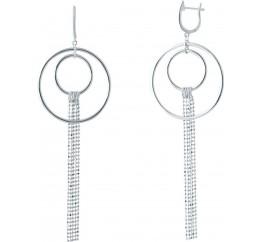 Серебряные серьги SilverBreeze без камней (2006114)