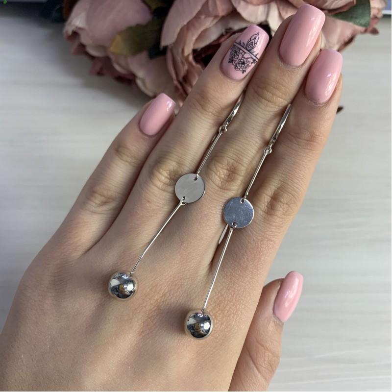 Серебряные серьги SilverBreeze без камней (2006138)