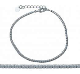 Серебряный браслет SilverBreeze с фианитами (2006480) 1720 размер